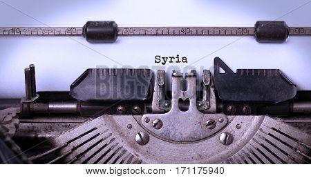 Old Typewriter - Syria