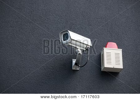 Security Camera On Wall