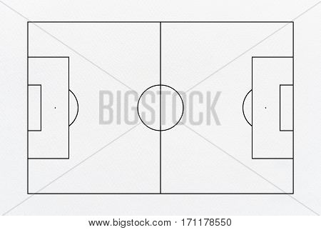 Abstract soccer field or football field background for create soccer tactic and writing a soccer game strategy. With white paper background.