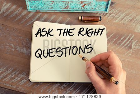 Handwritten Text Ask The Right Questions