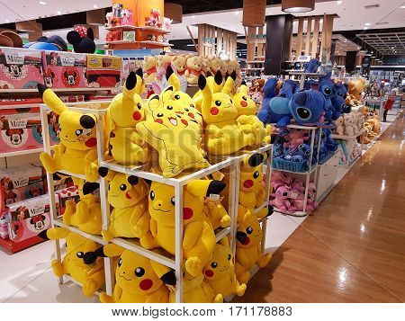 CHIANG RAI THAILAND - FEBRUARY 2 : Department store interior view with pokemon at Central Plaza on February 2 2017 in Chiang rai Thailand.