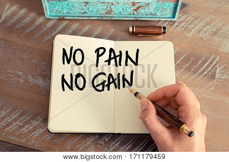 Handwritten Text No Pain No Gain