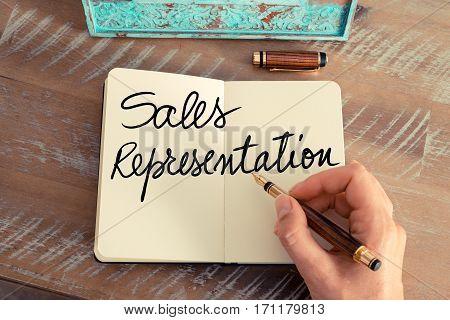 Handwritten Text Sales Representation