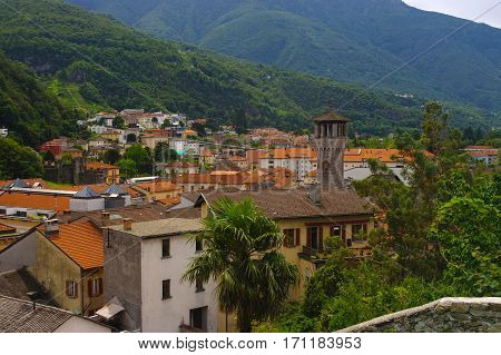 Scenic View Of Bellinzona, Ticino, Switzarland