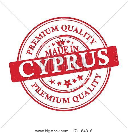 Made in Cyprus, Premium Quality printable grunge label / stamp. Print colors (CMYK) used