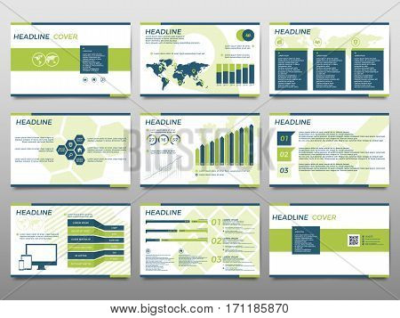 Green elements for infographics on a white background. Presentation templates. Use in presentation flyer corporate report marketing advertising annual report.
