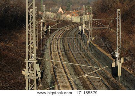 Railway track/ These are empty railway tracks.