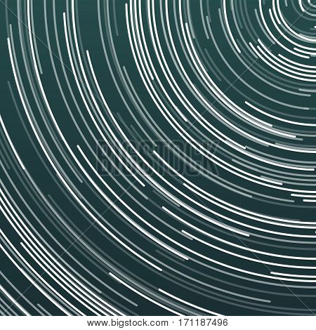 Illustration of Vector Star Trails Effect. Moving Lines HUD Futuristic User Interface Visualization Template