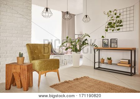 Flat With Wooden Decorations