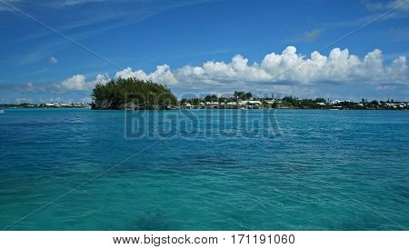 The coast of Bermuda, from the ocean