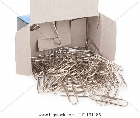 Metal staples with box