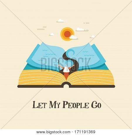 abstract passover story haggadah book. out of the Jews from Egypt. vector illustration