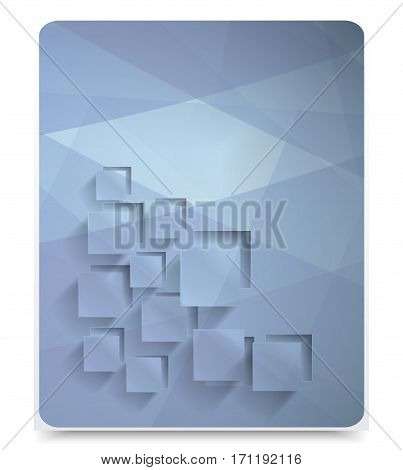 Abstract geometric background squares. Web Design brochure template and illustration