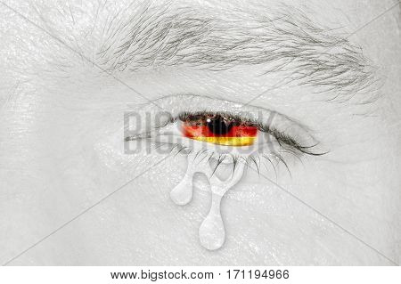Crying Eye With Germany Flag