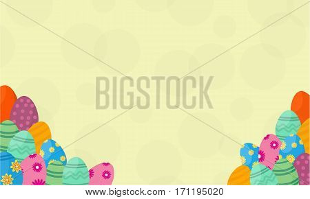 Background of easter egg vector collection stock