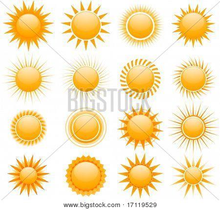 Vektor-Sonne-icons