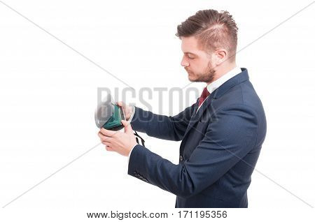 Young Manager Wearing Virtual Reality Goggles
