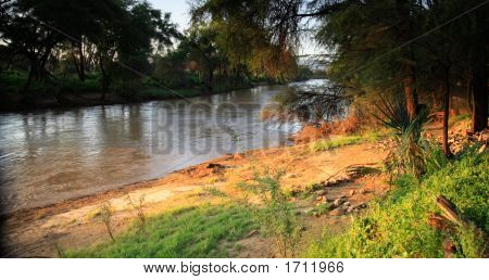 Uaso Nyiro River Samburu National Park Kenya poster