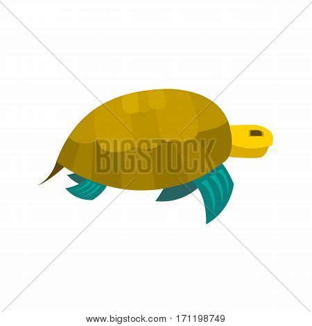 Cute turtle toy turtle icon isolated on a white background