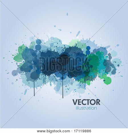 Blue paint splats background