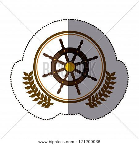 symbol rudder ships icon image, vector illustration