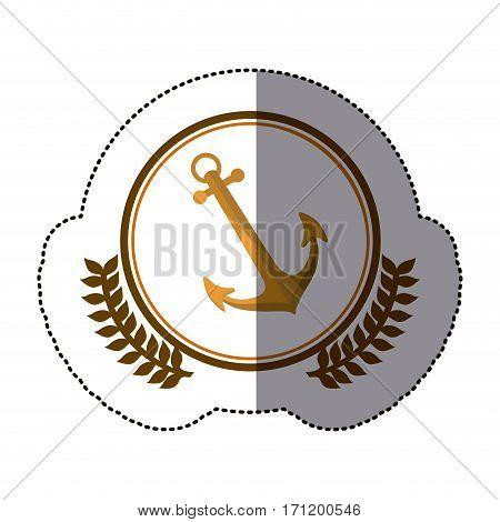 symbol anchor ships icon image, vector illustration