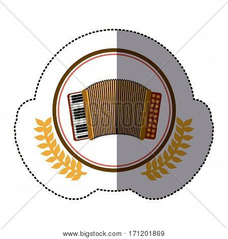symbol accordion icon stock image, vector illustration