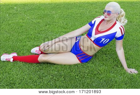 the girl from female support group of the American soccer a subject beautiful women