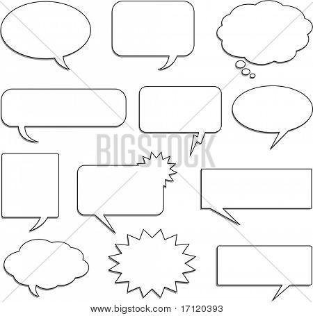 Speech bubble collection