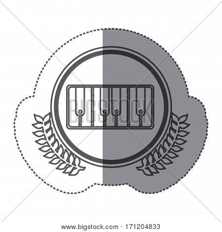 symbol piano icon stock, vector illustration design