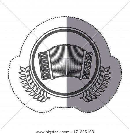 symbol accordion icon stock image, vector illustration