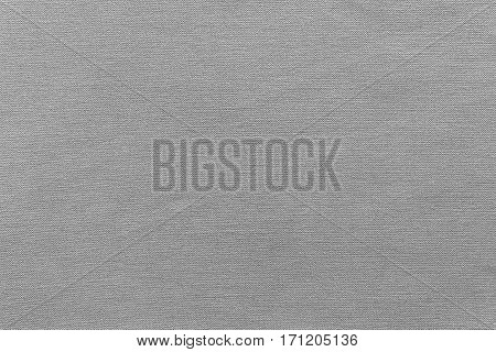texture and background of rough fabric or cotton material of gray color