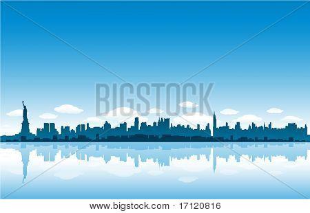 New Yrok City skyline vector illustration