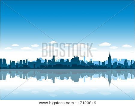 New York City vector background