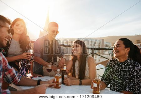 Happy Young People Having A Party