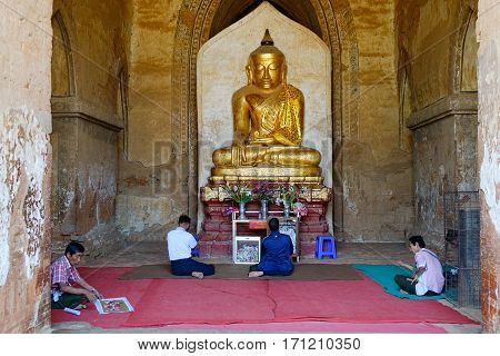 Buddha Statue At The Ancient Temple
