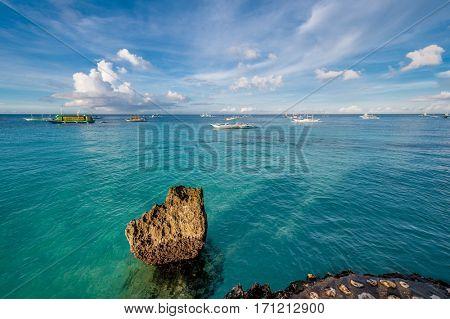 Rocky beach at Boracay, Philippines