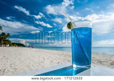 Cocktail at Boracay beach, Philippines.