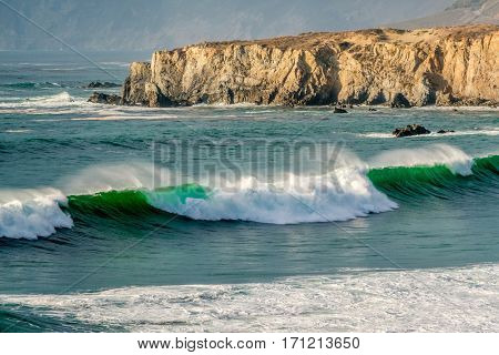 USA Pacific coast landscape, Sand Dollar Beach, Big Sur, California.