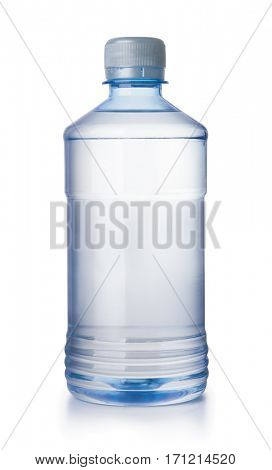 Front view of solvent bottle isolated on white