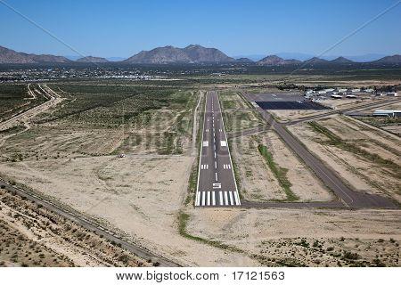 Aerial view of the runway at Casa Grande Arizona Airport poster