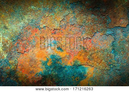 Rusty metal texture or rusty metal background. Grunge retro vintage of rusty metal plate for design with copy space for text or image.