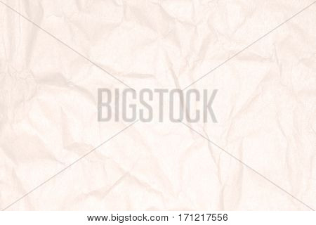 Recycled crumpled light brown paper texture or paper background for design with copy space for text or image. LARGE file.