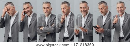 Professional Businessman Photo Collage