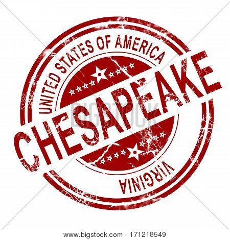 Chesapeake Virginia Stamp With White Background