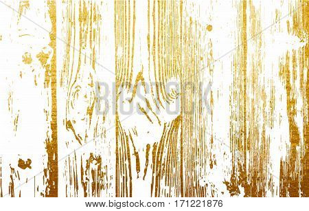 Wooden planks texture for your design. Shabby chic golden background. Vector wood texture backdrop.