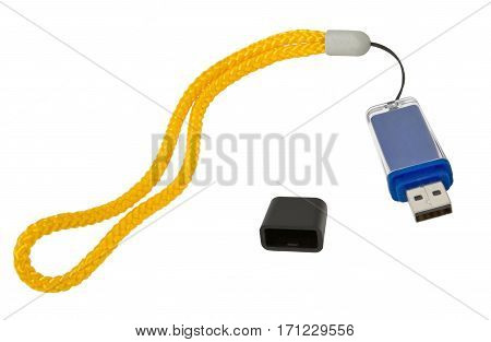 the Usb flash drive on white background