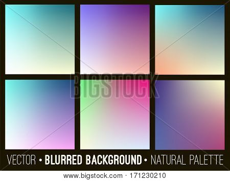 Blurred abstract backgrounds collection. Smooth template design for creative decor web banners and mobile interface