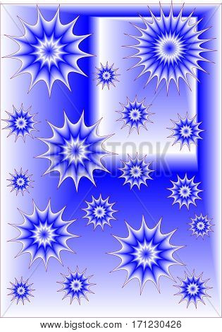blue abstract background with stars or useful as a background wrap