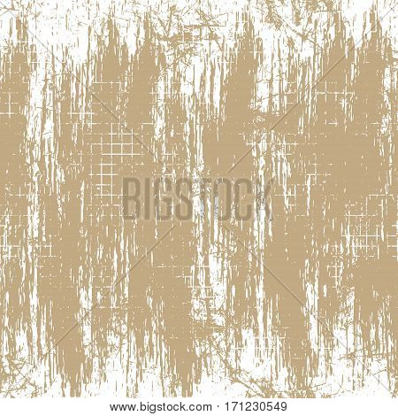 Vector background. Template, old style vintage design. Graphic illustration. Brown Grungy textured background with attrition, cracks and ambrosia.